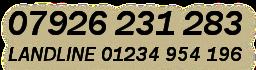 Mobile No: 07926 231 283